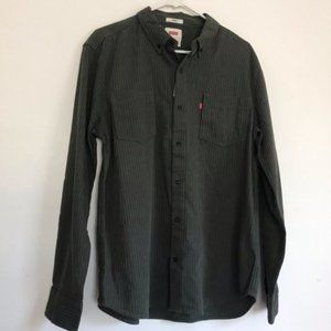 Levi's Flannel Long Sleeve Button Up Shirt NWT L